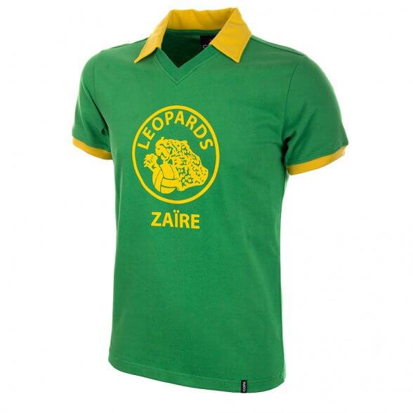 Zaire Trikot Weltmeisterschaft 1974. Heutzutage die DR Kongo.