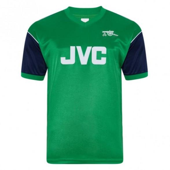 Arsenal 1982 retro trikot aüswarts vert Grün