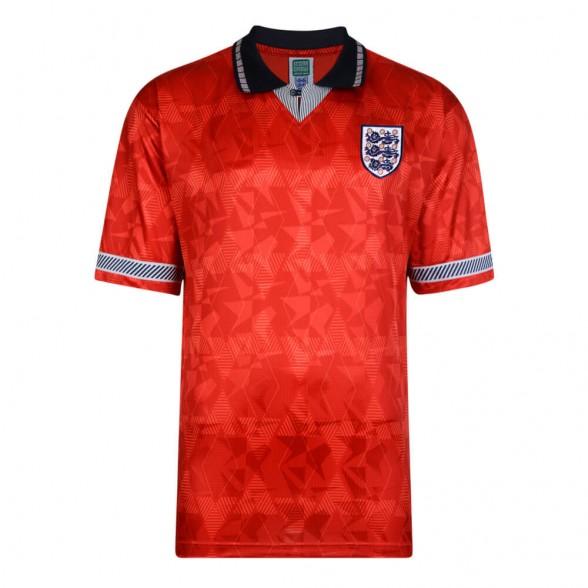 England 1990 Aüswarts retro trikot