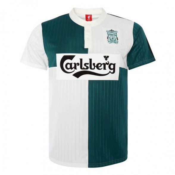 Liverpool FC 1995-96 retro trikot aüswarts vert Grün