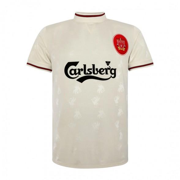 Liverpool FC 1996-97 vintage trikot Weiß aüswarts