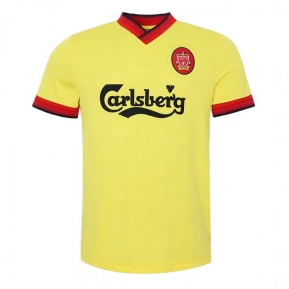 Liverpool FC 1997-98 retro trikot Gelb aüswarts