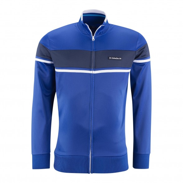Schalke 04 retro Trainingsjacke Blau