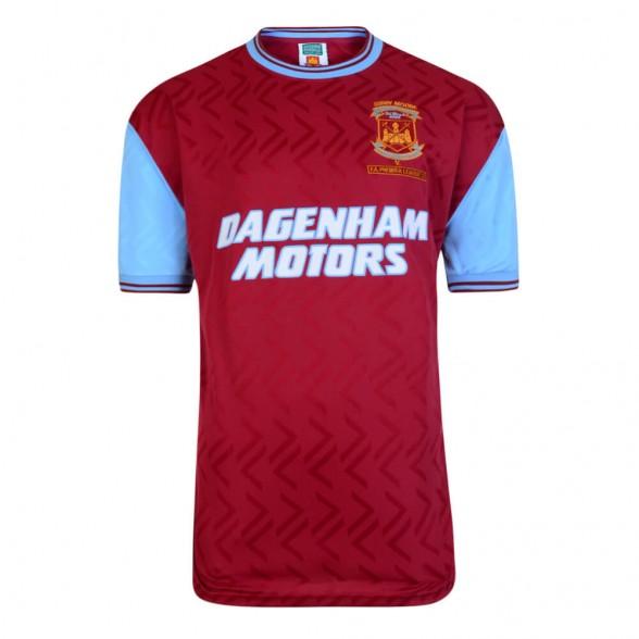 West Ham 1994 retro trikot . Bobby Moore Memorial Match 7/03/1994.
