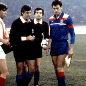 Atletico Madrid 1985-86 Auswärts retro trikot