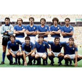 Italien Retro Trikot. Die italienische Mannschaft der Weltmeisterschaft 1982