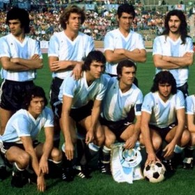 Argentinien Retro Trikot WM 1974