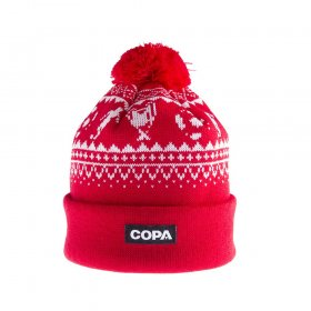 Nordic Knit Beanie - Red / White