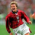 David Beckham England 1998 Aüswarts trikot