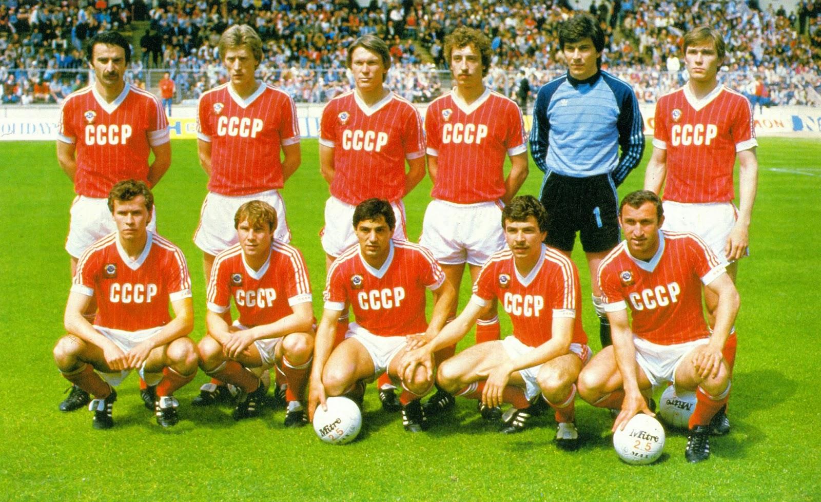 Trikots der Sowjetunion bei der Weltmeisterschaft in Spanien 82