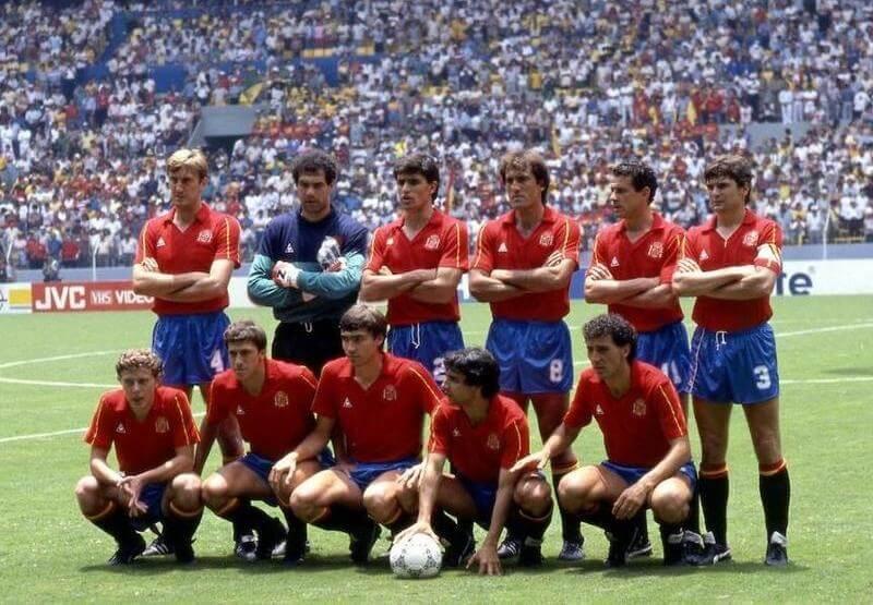 Spaniens Fußballtrikot 1980
