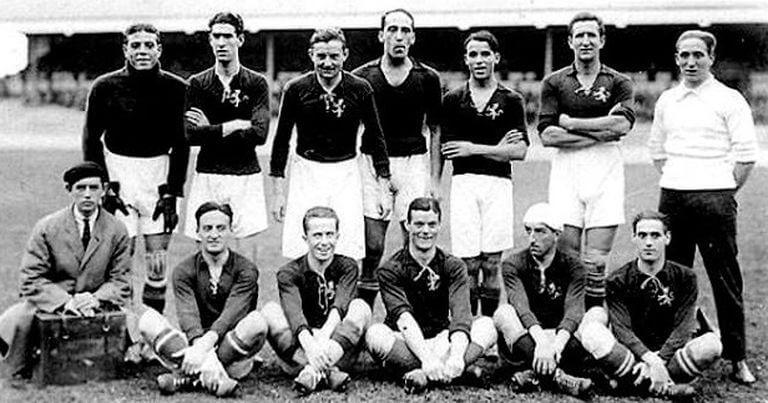 Spanien bei den Olympischen Spielen 1920 - Silbermedaille und Fußballpioniere
